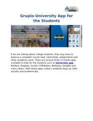 University Apps.docx