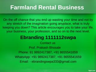 1.Farmland Rental Business.ppt