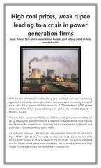 High coal prices  weak rupee leading to a crisis in power generation firms.pdf