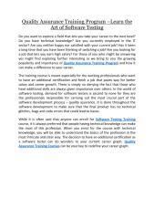 Quality Assurance Training Program Learn the Art of Software Testing.pdf