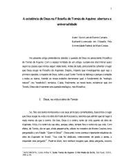 A existência de Deus na Filosofia de Tomás de Aquino - Sávio Laet de Barros Campos.pdf