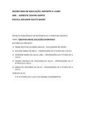 Projeto Pedagógico de Matemática e Literatura Infantil.doc
