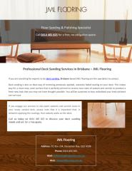 Professional Deck Sanding Services in Brisbane – JML Flooring.pdf