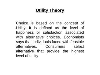 Utility Theory.ppt