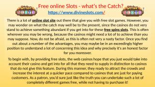 Free online Slots - what's the Catch.pptx