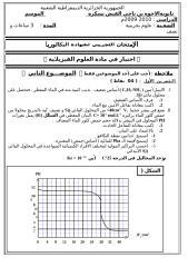 باكلوريا تجريبية لامتحان شهادة البكالوريا 2011 علوم تجريبية.doc