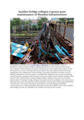 Another bridge collapse exposes poor maintenance of Mumbai infrastructure .pdf