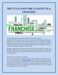 Why it's a good time to invest in a franchise.pdf