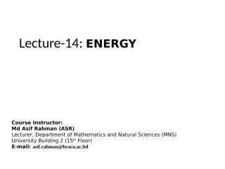 Lecture 14 Energy.ppt