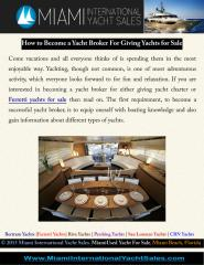 How to Become a Yacht Broker For Giving Yachts for Sale.pdf