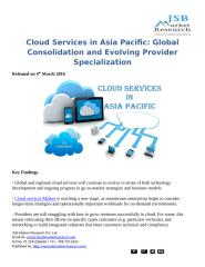 Cloud Services in Asia Pacific Global Consolidation and Evolving Provider Specialization.docx