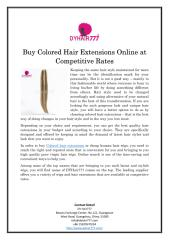 Buy Colored Hair Extensions Online at Competitive Rates.pdf