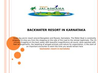 backwater resort in karnataka.pptx