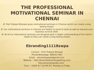 6.The Professional Motivational Seminar in Chennai.pptx