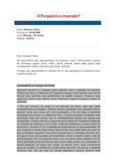 O Purgatório é invenção (pergunta).PDF