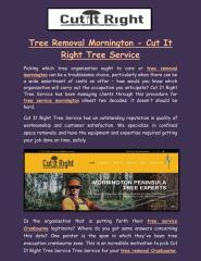Tree Removal Mornington - Cut It Right Tree Service.pdf